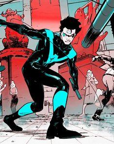 Nightwing. Dick Grayson. <3 Nightwing And Batgirl, Batwoman, Tim Drake Red Robin, Richard Grayson, Batman Universe, Dc Universe, Wonder Woman Comic, Dc Comics Characters, Batman Family