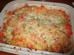 this is an awesome casserole. We are shrimp lovers so I saute small shrimp in butter, white wine, garlic and shallots, until wine evaporates. Add to casserole. Fresh chopped basil spinkled on top. Side Recipes, Vegetable Recipes, Cooking Vegetables, Vegetable Dishes, Casserole Dishes, Casserole Recipes, Buttered Shrimp Recipe, Spaghetti Squash Casserole, Pinch Recipe