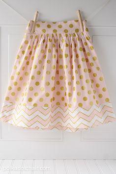 Girls Polka Dot Skirt on polkadotchair.com