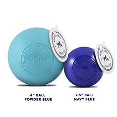 Dog Toys Balls - Tough Nearly Indestructible Toy for Aggressive Chewers - 2 Ball Sizes for Large and Small Dogs - Made in USA (Powder Blue 4 inch ball)   Check it out-->  http://mypets.us/product/dog-toys-balls-tough-nearly-indestructible-toy-for-aggressive-chewers-2-ball-sizes-for-large-and-small-dogs-made-in-usa-powder-blue-4-inch-ball/  #pet #food #bed #supplies