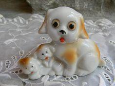 Vintage dog figurine puppy dog / dog lover by Pickerchicks on Etsy, $20.00