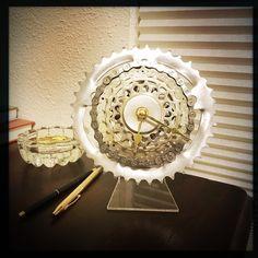bike gear desk clock steampunk decor bike gift for men mountain biker gift industrial desk clock steampunk desk clock bicycle clock desk clock