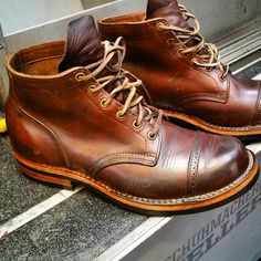 "410081cb23fc Ingo Keller on Instagram  ""resoled viberg service boots 👈  resoled  viberg   vibergboot  dainite  bootsfreak  oldboots  patina  craftmanship  handmade  ..."