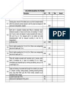 Elemental Bill of Quantities for 3 Bedroom Apartment Block | Tile | Concrete