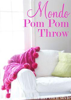 Mondo Pom Pom throw tutorial