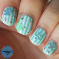A girly flowery mani using bornprettystore flower sheets and I added some micro beads from SHOP MISS A Read more here: http://nicethingstolist.blogspot.sg/2015/01/bornprettystorecom-flower-glitter.html   Use my code LSTX31 for a 10% off on www.bornprettystore.com P.S. They ship WORDWIDEfor FREE!  #flower #bornprettystore #bps #shopmissa #nails #nailart #flowernailart