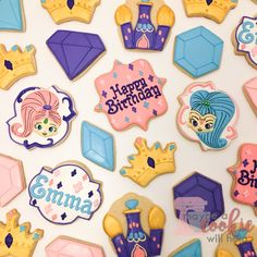 Shimmer and Shine birthday cookies