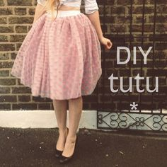 DIY tulle tutu skirt