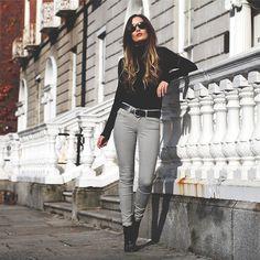 "Guess? Jeans, Missguided Boots, H Turtleneck //""Turtleneck. "" by Anouska Proetta Brandon // LOOKBOOK.nu"