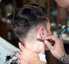 razor cut :: #haircut #menscut #hair I find this so fascinating..