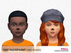 elrsims' [ELR SIMS] Cat Facepaint for Kids (Skin Detail)