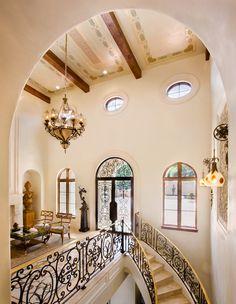 Mediterranean Villa - view of second floor Gallery - details