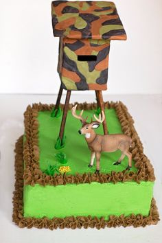 Hunting Cakehubby and boys Hunting party Pinterest Cake