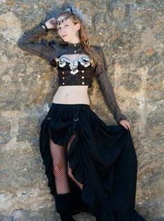 SALE SALE SALE*** Adjustable Bustle Skirt Cosplay Belly Dance Pirate Renaissance Steampunk Sz Small