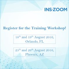 Not sure about the perks of Zoom yet? This training workshop can get you out as a master of the product and help you become the Zoom Guru of your organisation. Register for the workshop that happens at Orlando on August 18th-19th 2016; or at Phoenix on August 25th-26th 2016 - http://www.inszoom.com/inszoom-training-workshops/