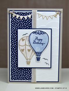 Masculine Challenge Card No. 3 – Above the Clouds - JanB Cards Birthday Sentiments, Birthday Cards, Boy Cards, Above The Clouds, Quick Cards, Pretty Cards, Masculine Cards, Stamping Up, Homemade Cards
