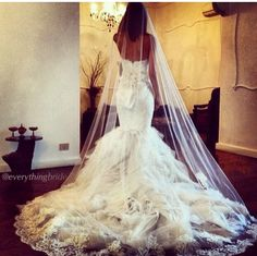 #gorgeous #lace #floral #wedding #dress #tulle #pretty #mermaid