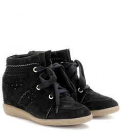 ISABEL MARANT Bobby concealed wedge suede sneakers
