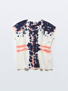 handpainted blouse would be pretty with a denim pencil skirt