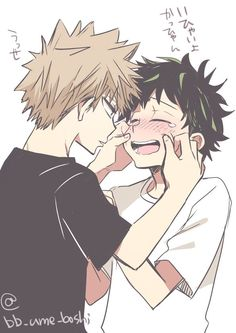 >My Hero Academia Yaoi/Ship Photos< - >Bakugou x Deku< Deku X Kacchan, Boku No Hero Academia, My Hero Academia Manga, Fanart, My Search History, Lgbt Anime, Bakugou Manga, Chibi, Familia Anime