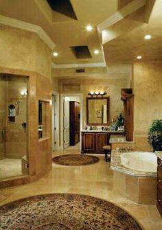 My Dream Home Ideas :) / gorgeous bathroom / HUGE. Dream Bathrooms, Dream Rooms, Beautiful Bathrooms, Master Bathrooms, Bathtub Dream, Master Bedroom, House Goals, My New Room, My Dream Home
