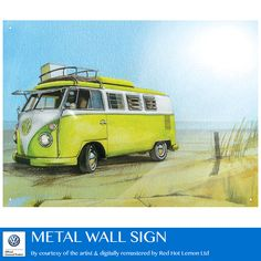 300x410mm Metal Wall Sign – VW Watercolour Camper Beach    Red Hot Lemon are extremely proud to say all of our designs of Metal Wall plaques and signs are EXCLUSIVE to us, they are designed in-house by an inspired and passionate team – our aim…to give you and your customers something to be excited about! We use the freshest techniques, great eye for detail, and a love for each design, we believe it makes us the wall sign supplier of choice for those who are just as passionate about…