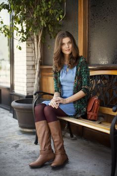 Wearing rich fall hues is one of the reasons we look forward to this season! #ruche #shopruche