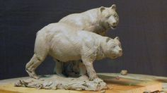 Sculpture Tutorial - Fine Tuning the Bears Today