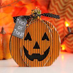 Trick or Treat Wooden Jack O' Lantern   Kirklands