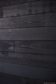 black shiplap wall, guest room wall? black works with visible woodgrain... yes, yes it does