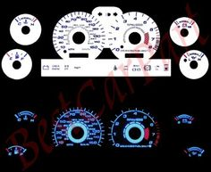 94-98 Ford Mustang GT V8 WHITE GLOW EL GAUGES by High performance parts. $32.00. Item Condition: Brand New  The Colored Gauge Faces are one of the key ingredients to gaining the most functional and attractive point to any cockpit. The faces will replace the dull black layout with a bright and easy to read cluster. This is a must for all car buffs.  White Face by Day. Glowing Blue at Night! The newest and most complete line of reverse gauge faces replacement product...
