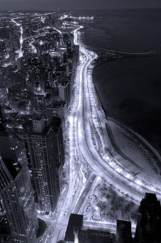 Lake Shore Drive Aerial B and W Photograph by Steve Gadomski - Lake Shore Drive Aerial B and W Fine Art Prints and Posters for Sale