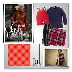 """""""Clash of the Tartans"""" by annazonno ❤ liked on Polyvore featuring Max&Co., MICHAEL Michael Kors and Marc Jacobs"""