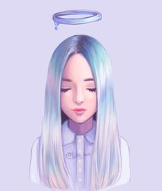 Pastel angel by Hiba-tan on DeviantArt Art Anime Fille, Anime Art Girl, Hiba Tan, Dibujos Tumblr A Color, Digital Art Girl, Cute Drawings, Girl Drawings, Realistic Drawings, Cartoon Art