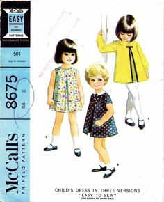McCalls 1967 8675 Precious little girl's dress pattern from 1960's