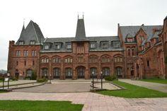 Hradec nad Moravici the red castle.