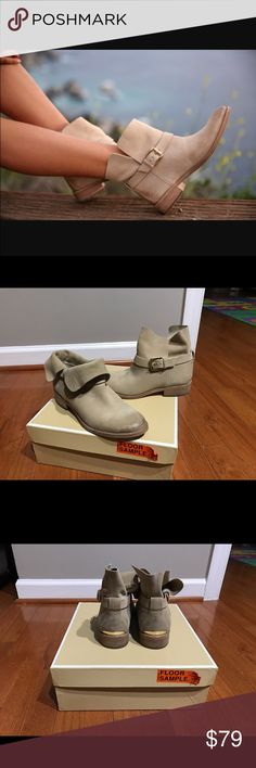 Michael Kors Walton Ankle Boot Suede in Bone  37 They're new with the box. Because they were floor sample, you may see wear at the bottom of the shoes Michael Kors Shoes Ankle Boots & Booties