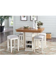 Shop for a Coventry Lane Cream 5 Pc Counter Height Dining Set at Rooms To Go. Find Dining Room Sets that will look great in your home and complement the rest of your furniture. Pub Table Sets, Dining Room Sets, Dining Room Table, Kitchen Dining, Kitchen Decor, Table Stools, Dinning Set, Rooms To Go Furniture, Furniture Websites