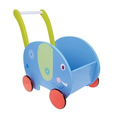 [Toy Storage Ideas] Labebe Little Toddler Kids Learning Walker for 1 Year and Up, Sit-to-Stand 2-in-1 Use as Toy Chest Storage, Sturdy Solid Wood Push and Pull Toys for Baby Boys and Girls - Blue Elephant * Details can be found by clicking on the image. (This is an affiliate link) #ToyStorageIdeas