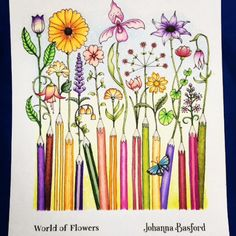 49 Best World Of Flowers Coloring Book Images In 2019