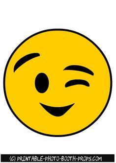 Winking Emoji Photo Booth Prop