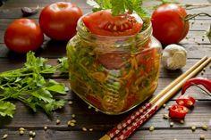 Быстрые маринованные помидоры по-корейски. Пошаговый рецепт с фото…