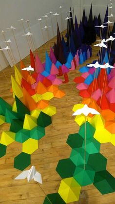 love origami, love this pretty landscape by mademoiselle maurice and sarah applebaum