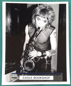 MICHAEL MONROE of glam punk band HANOI ROCKS ORIGINAL MUSIC PUBLICITY PHOTO 1983 | eBay