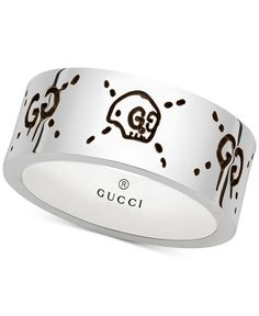Gucci Men's Gucci Ghost Sterling Silver Ring YBC455318001020