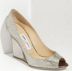 Sapatos De Noivas Salto Anabela