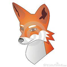 Red #fox head -  vector #illustration #wildlife