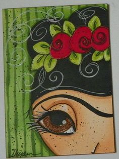 Frida Kahlo ACEO By Megan Suarez.