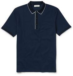 London Slim-Fit Cotton-Piqué Polo Shirt  | MR PORTER