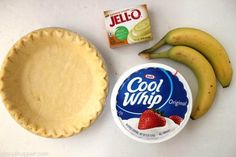 Easy Banana Cream Pie - quick and easy dessert with just a couple ingredients. Easy Banana Cream Pie - quick and easy dessert with just a couple ingredients. Banana Cream Pudding, Healthy Banana Pudding, Easy Banana Cream Pie, Banana Pie, Banana Cream Pie Recipe With Pudding, Jello Pie, Jello Pudding Pie, Holiday Pies, Pastries